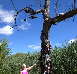 Me with the SHOE TREE