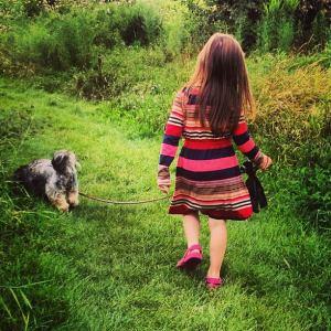'R' walking our little dog Koko