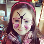 Rylee with her face painted