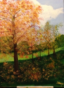 My Painting of Autumn in 2015